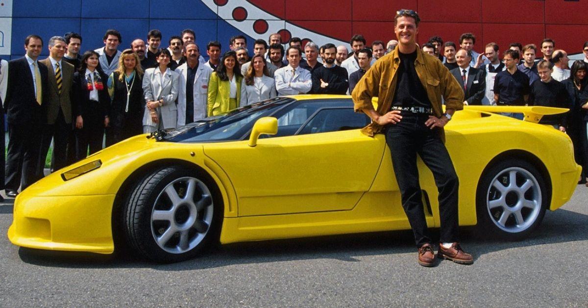 La Bugatti EB110 SS ex-Michael Schumacher inondée en Allemagne !