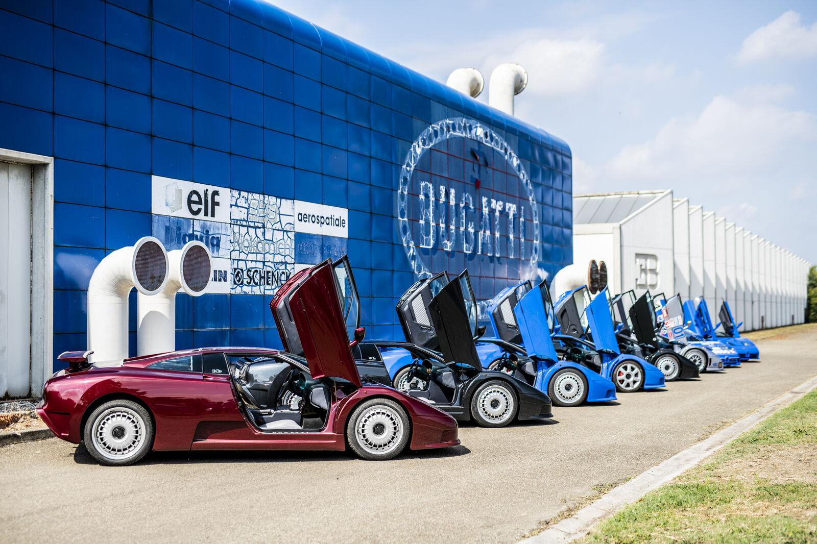 Bugatti célèbre les 30 ans de la mythique EB 110 (+ images)