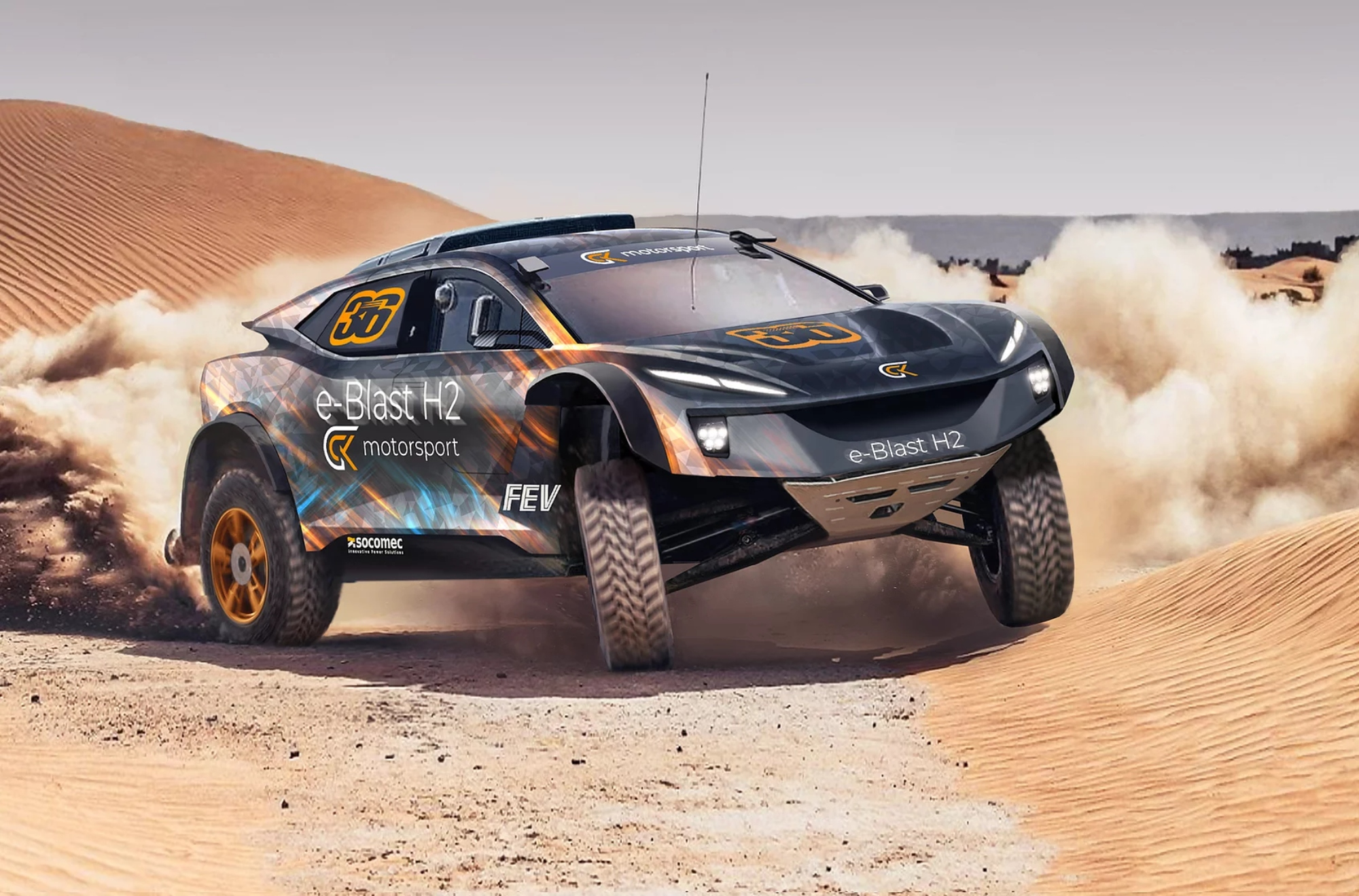 voici la future auto à hydrogène de GCK Motorsport